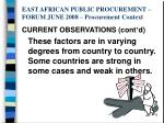 east african public procurement forum june 2008 procurement context6