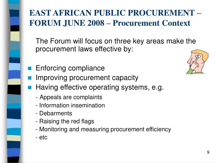 EAST AFRICAN PUBLIC PROCUREMENT –