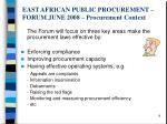 east african public procurement forum june 2008 procurement context7