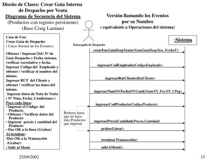 Diseño de Clases: Crear Guía Interna
