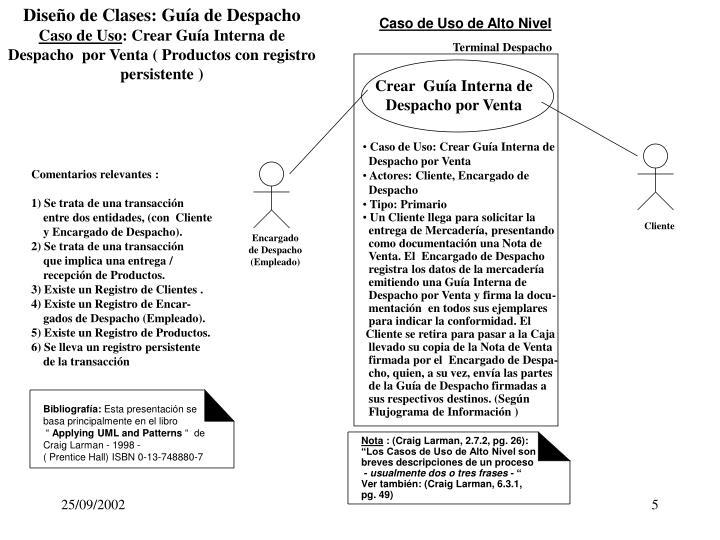 Diseño de Clases: Guía de Despacho