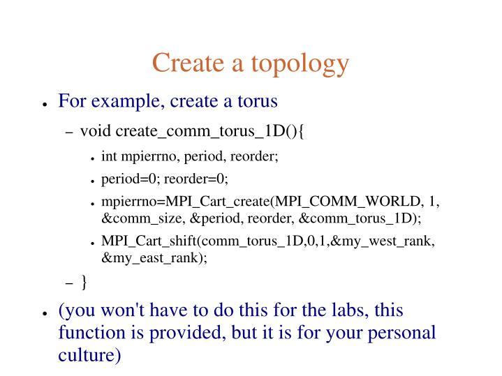 Create a topology