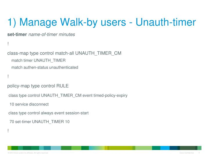 1) Manage Walk-by users -