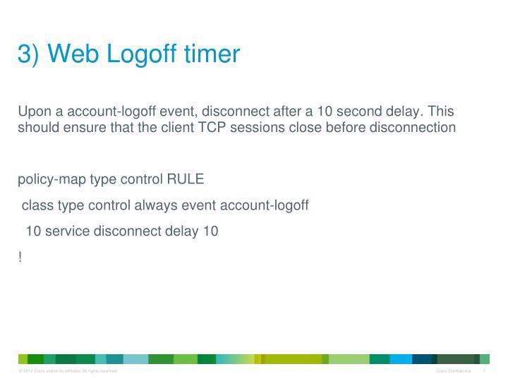 3) Web Logoff timer