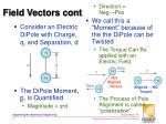 field vectors cont