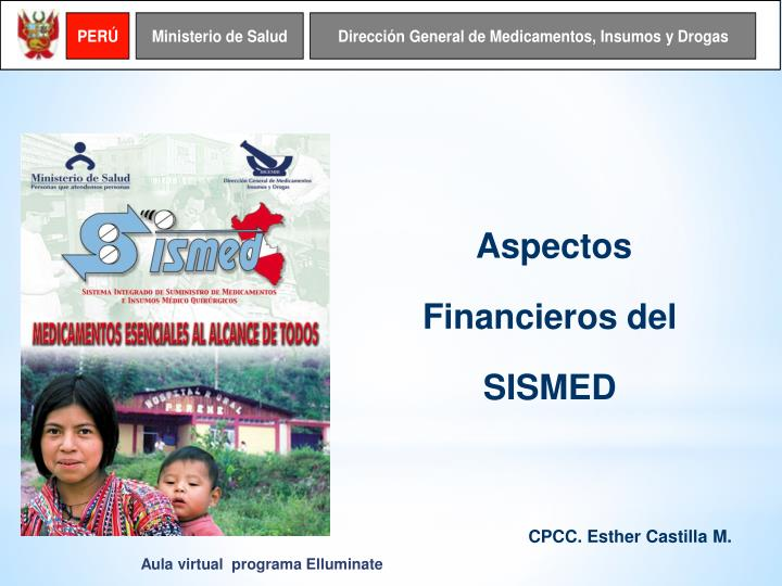 Aspectos Financieros del SISMED