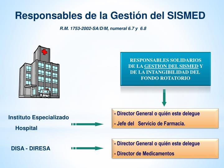 Responsables de la Gestión del SISMED