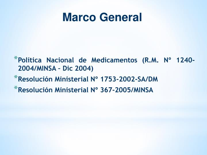 Marco General