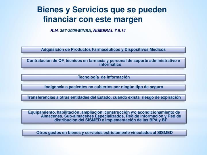 Bienes y Servicios que se pueden