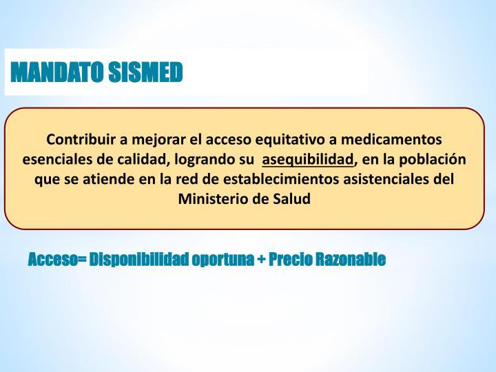 MANDATO SISMED