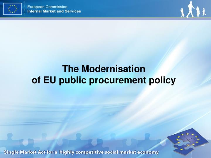 the modernisation of eu public procurement policy