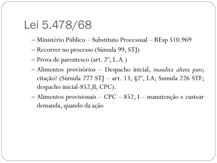 Lei 5.478/68