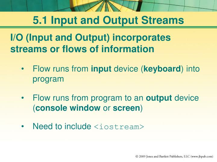 5 1 input and output streams