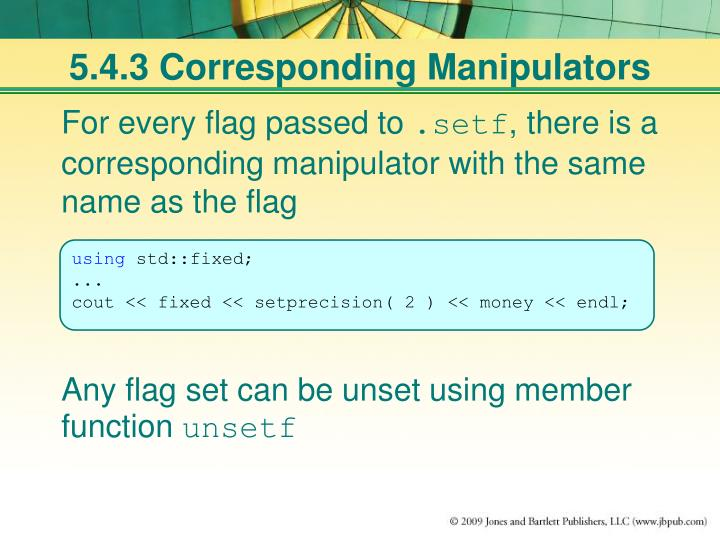 5.4.3 Corresponding Manipulators