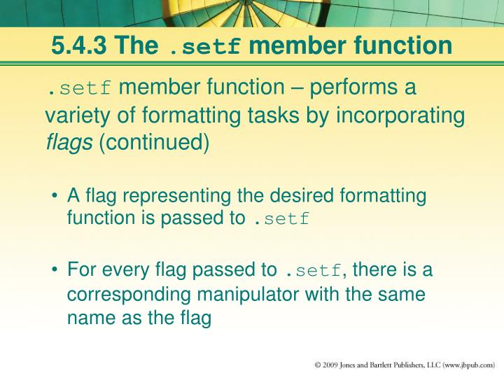 5.4.3 The