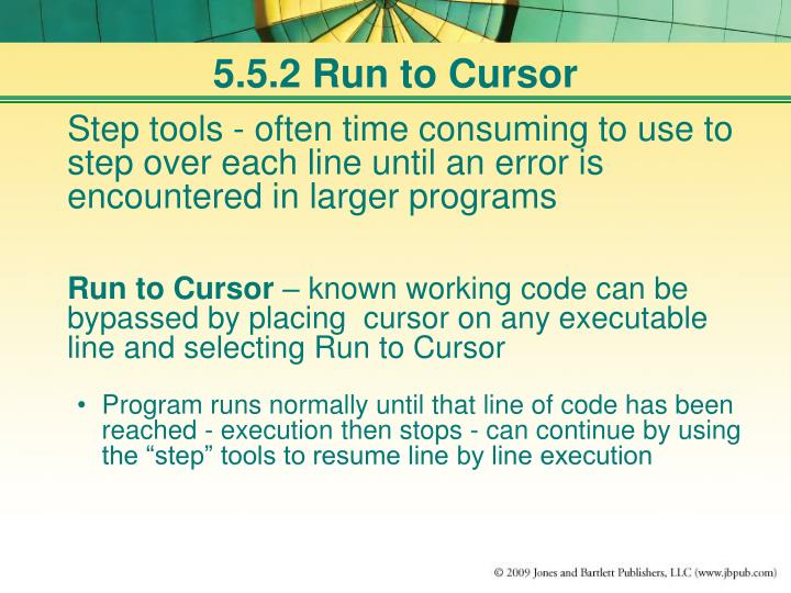 5.5.2 Run to Cursor