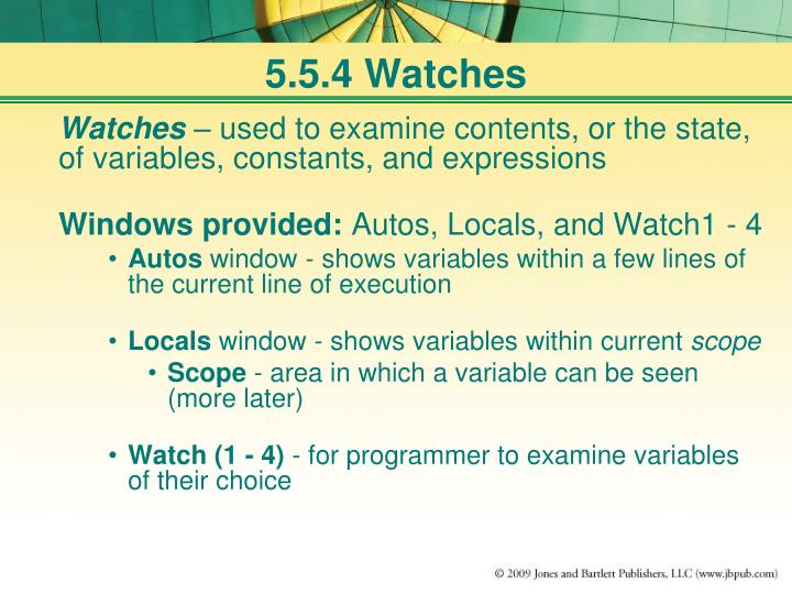 5.5.4 Watches