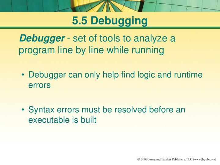 5.5 Debugging