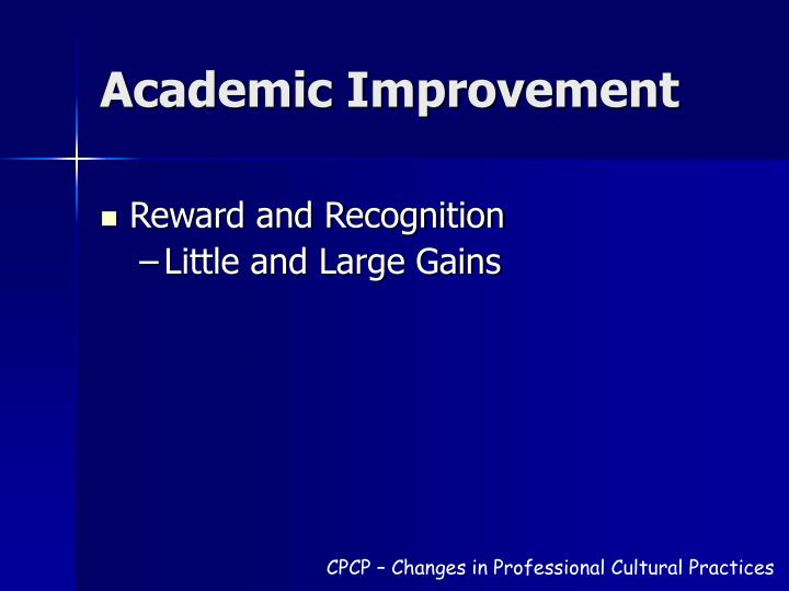 Academic Improvement