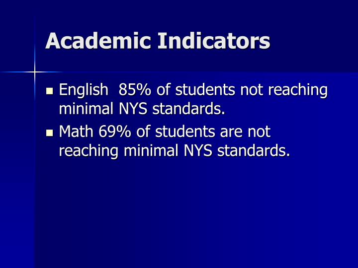 Academic Indicators