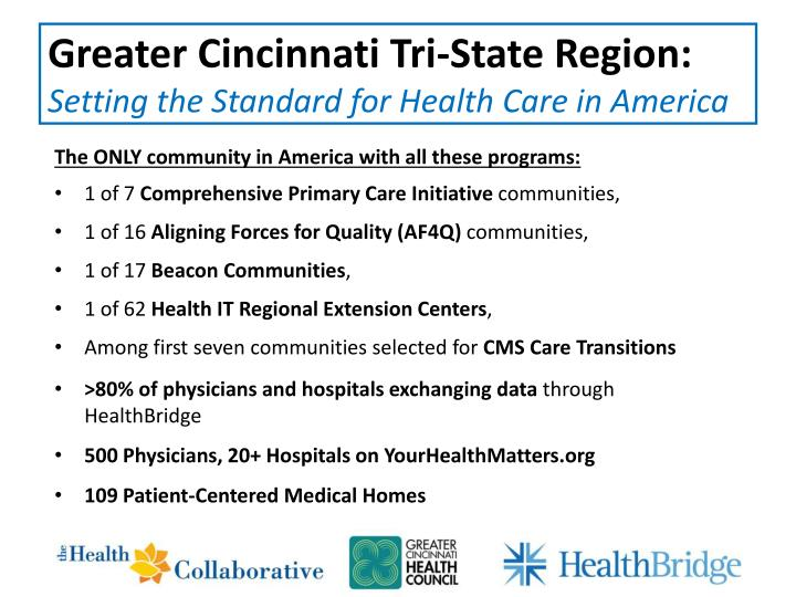 Greater Cincinnati Tri-State Region: