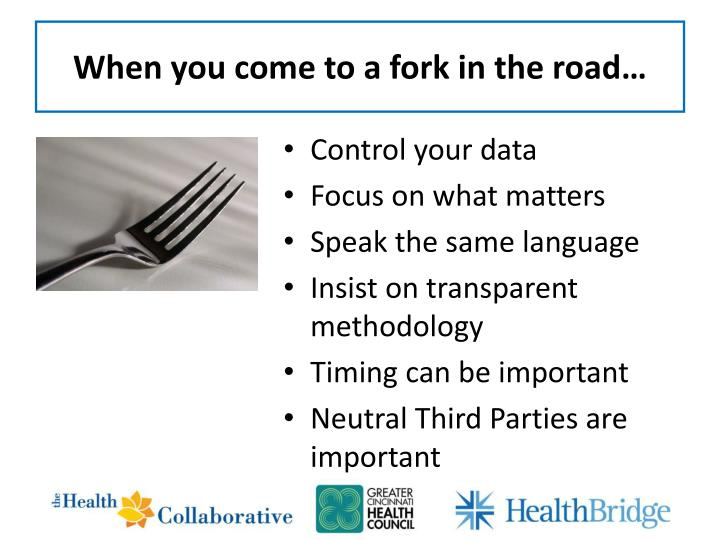 When you come to a fork in the road…