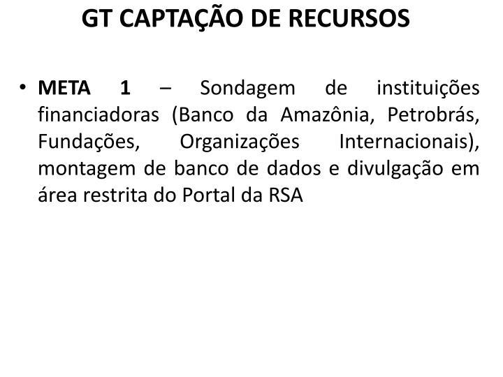 GT CAPTAÇÃO DE RECURSOS