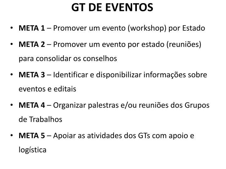GT DE EVENTOS