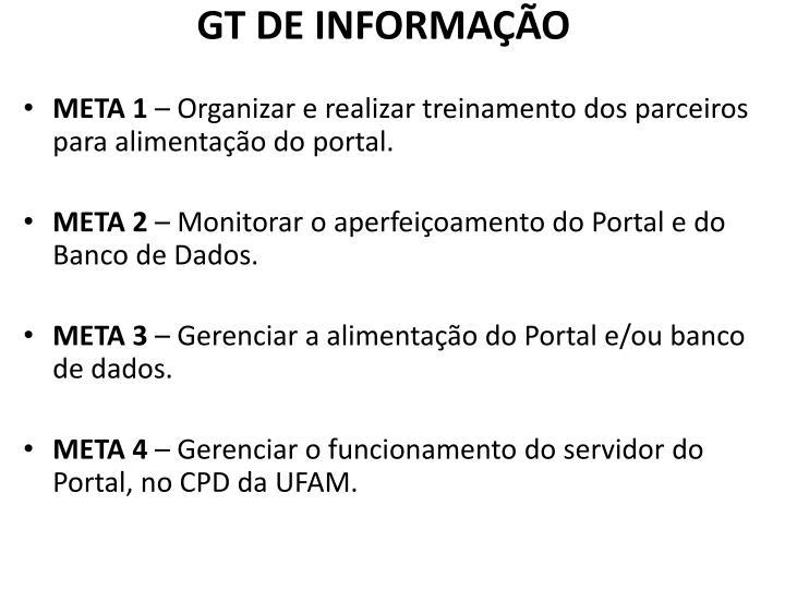 GT DE INFORMAÇÃO