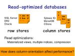 read optimized databases