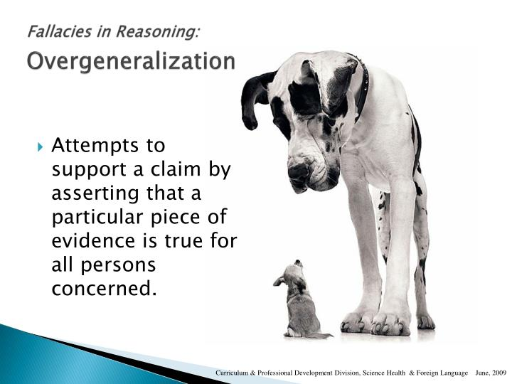 Fallacies in Reasoning: