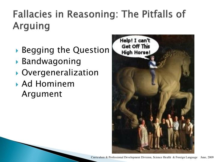 Fallacies in Reasoning: The Pitfalls of Arguing