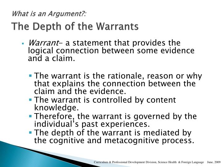 What is an Argument?: