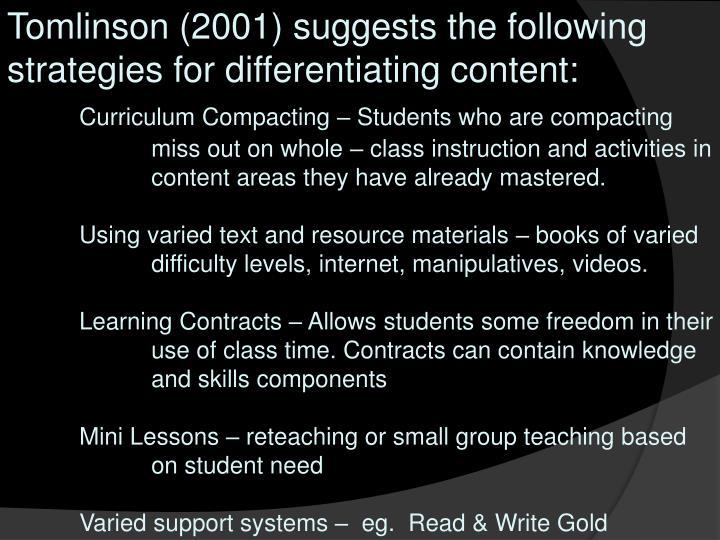 carol tomlinson differentiated instruction powerpoint