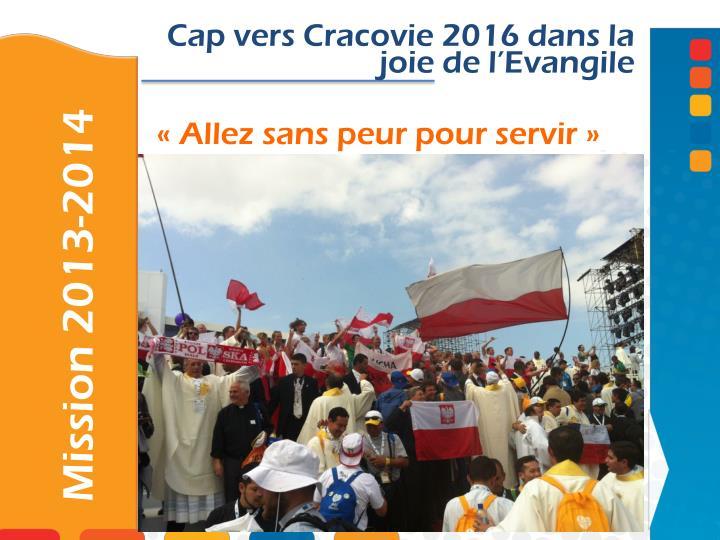 Cap vers Cracovie 2016 dans la joie de l'Evangile