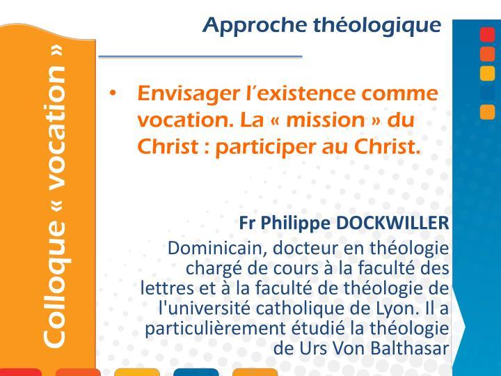 Approche théologique
