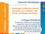 envisager l existence comme vocation la mission du christ participer au christ
