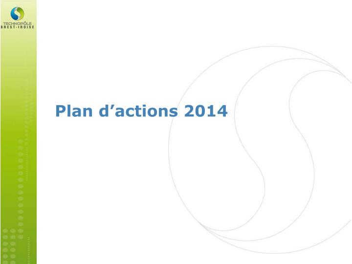 Plan d actions 2014