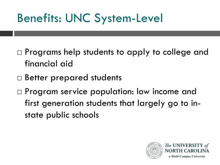 Benefits: UNC System-Level