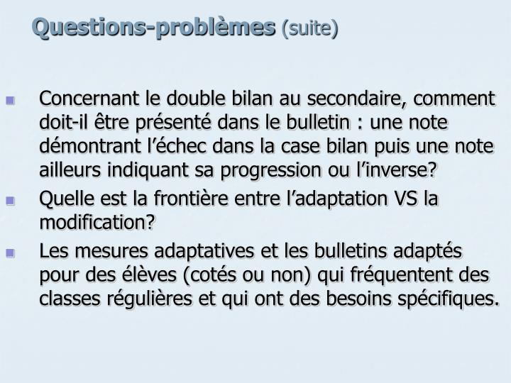 Questions-problèmes