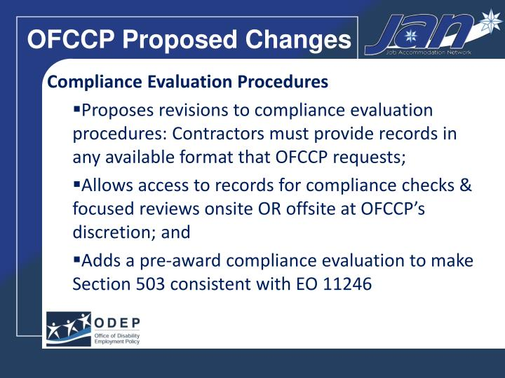 OFCCP Proposed Changes