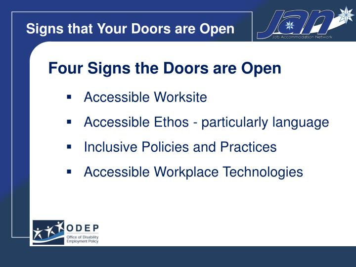Signs that Your Doors are Open