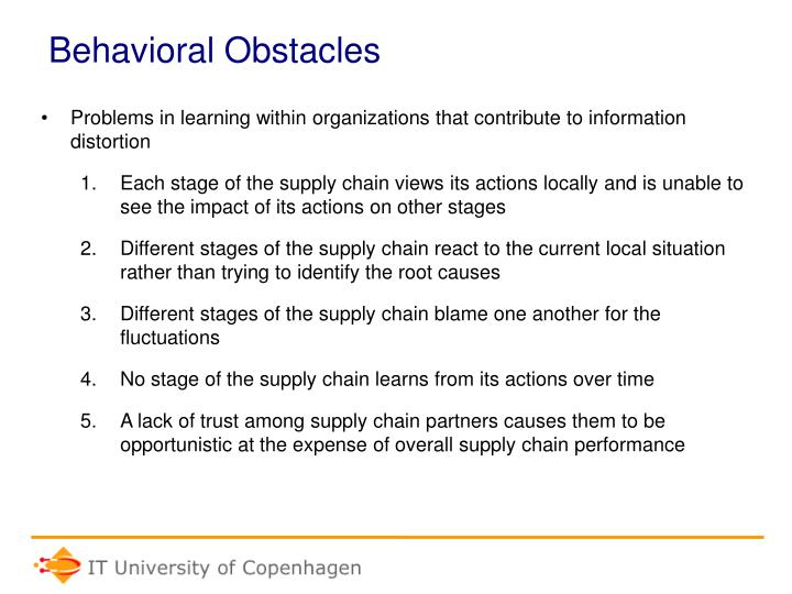 Behavioral Obstacles