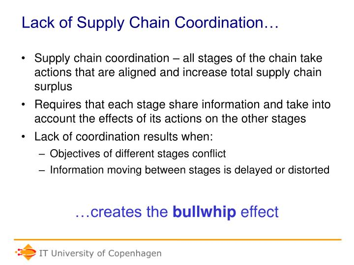 Lack of supply chain coordination