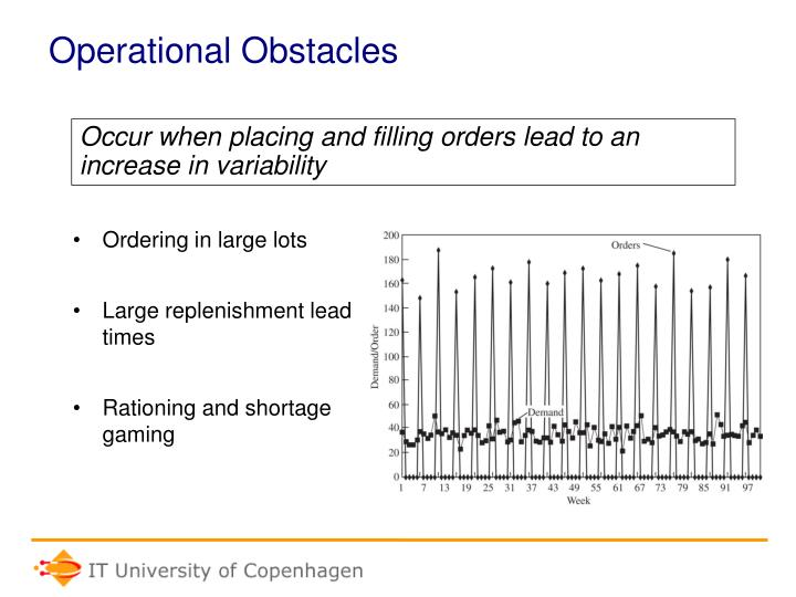 Operational Obstacles