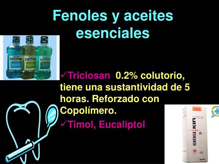 Fenoles y aceites esenciales