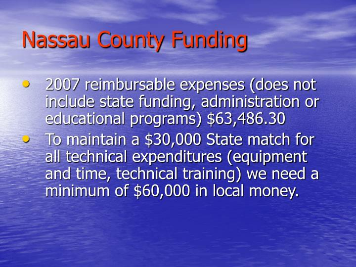 Nassau County Funding