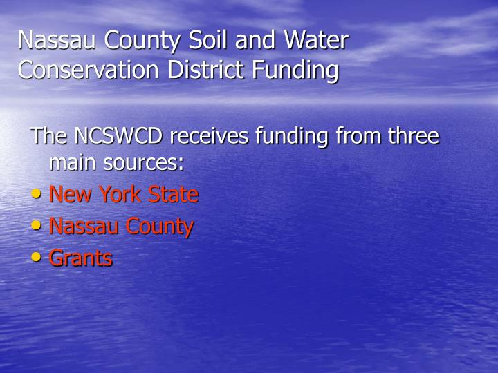 Nassau County Soil and Water Conservation District Funding