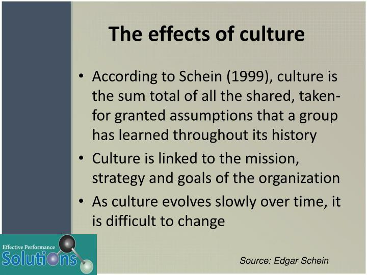 The effects of culture