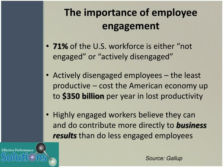 The importance of employee engagement1